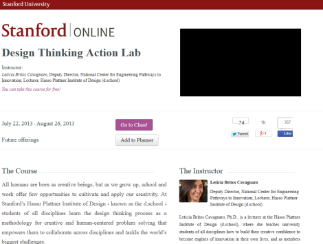 Design thinking action lab - stanford university