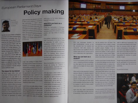 Experience sharing in Krydsfelt, Technical University of Denmark, Magazine, February 2012
