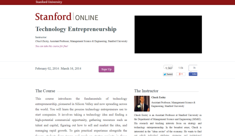 Technology Entrepreneurship - Stanford University