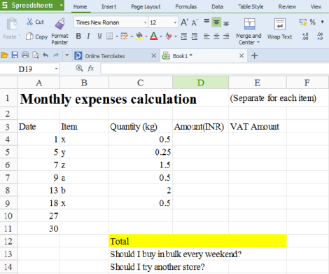 Version 3_1 sample calculation sheet