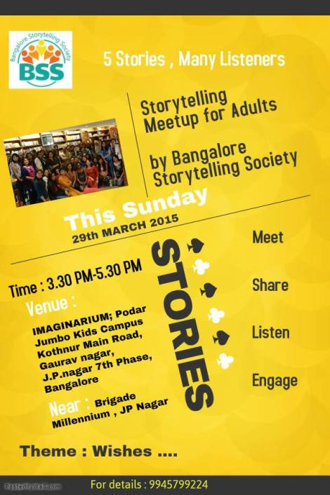 bangalore storytelling society meetup