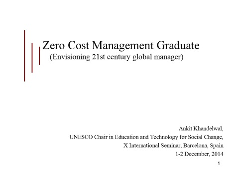 Zero Cost MBA_UNESCO presentation_first slide