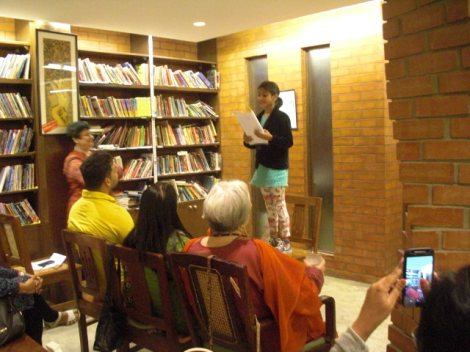 Poem Recitation  by Mamta: Photo Courtesy- Pramod Shankar
