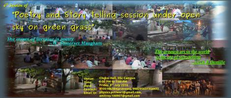 6th session of poetry and storytelling under grass